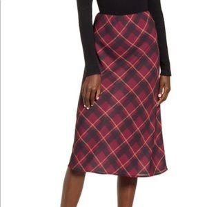 BAND OF GYPSIES Plaid midi skirt. Size M